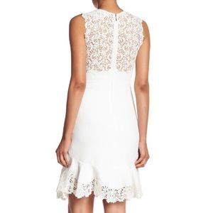 Rebecca Taylor White Textured Lace Dress, Size 4